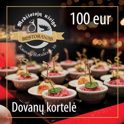 Dovanų kortelė 100 EUR