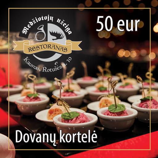 Dovanų kortelė 50 EUR